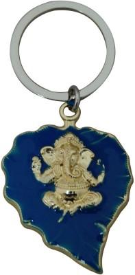 Aaradhi Ganesha on Leaf Locking Key Chain