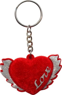 CTW Love Heart Feather Wings Keyring Valentine Key Chain
