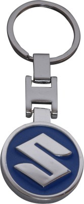Chainz Rectangular Suzuki Car Logo Premium Metal Key Chain