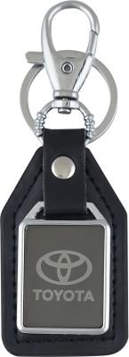 PARRK Toyota Mirror Leather Car logo Locking Key Chain
