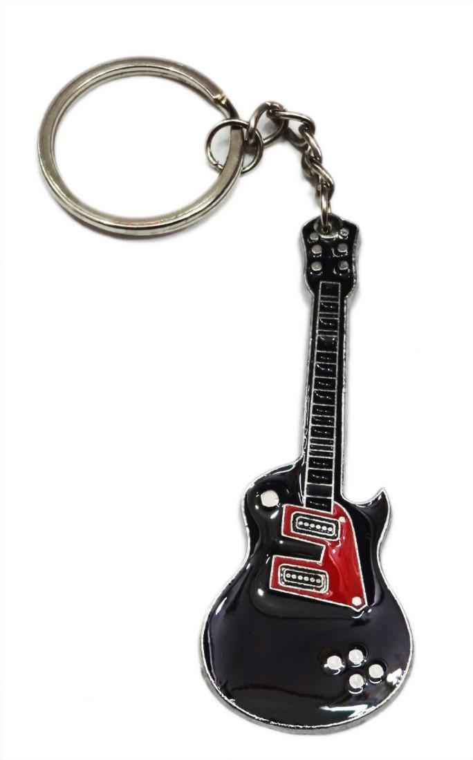 Aditya Traders blackish metal guitar Key Chain