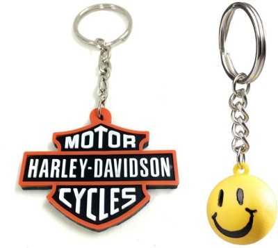 Chainz Harley Davidson Rubber And Smiley Ball Key Chain