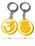 Tech Fashion Om Ganesh Ganpati Yellow Wh...