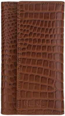 Rene Rene Genuine Leather Slim Key Case Carabiner