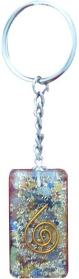 Aaradhi Divya Mantra Orgone Energy Big Rectangle 7 Chakra Key Chain