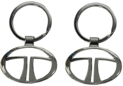 Onlinemart Tata Full Metal KeyRing (Pack of 2) Key Chain