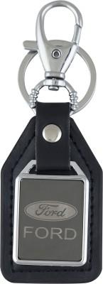 PARRK Ford Mirror leather logo Locking Key Chain