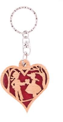 JM couple dance in Heart symbol Key Chain