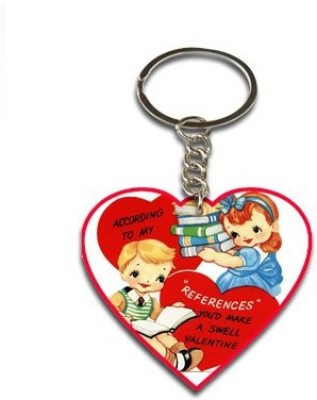 Onlineworld Heart Shape Wood -02 Key Chain