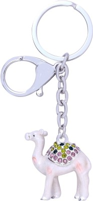 Super Drool Enamled and Studded Camel Locking Key Chain