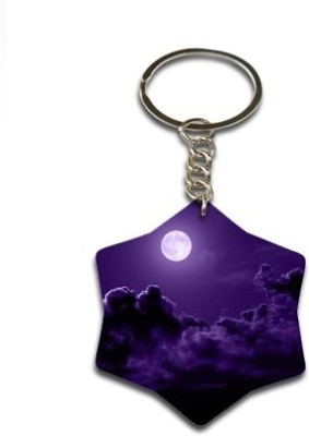 Onlineworld Star Shape Wood -03 Key Chain