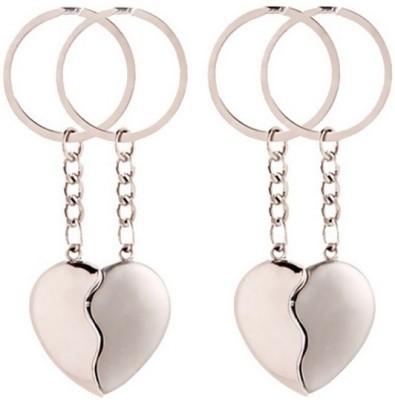 New Pinch Pack Of 2 Broken Heart Key Chain