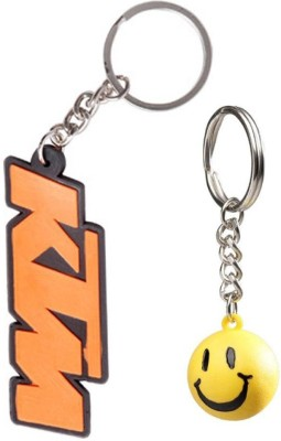 Confident Ktm Letter And Smily Key Chain