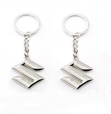Indiashopers Suzuki Metallic Key Ring (Pack of 2) Key Chain