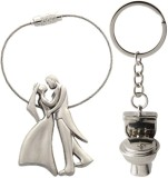 Alexus Couple And Bike A Key Chain (Silv...