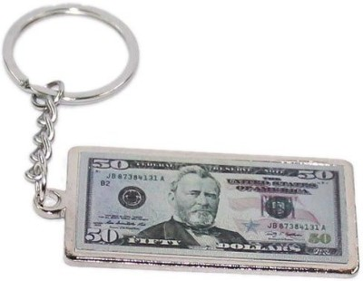 Aura United States 50 Dollar Note Metal Key Chain