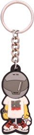CRAFTKART CFK622 Eat sleep Race rubber key chain Carabiner(Multicolor)
