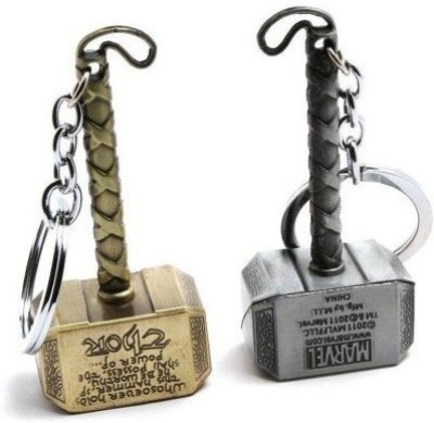 AMR THOR HAMMER SILVER AND GOLDEN Key Chain