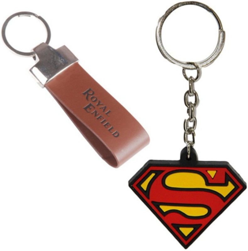 Alexus Royal Enfield Leather And Superman Key Chain