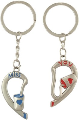 Anishop Couple Heart Key Chain