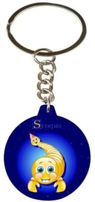 Onlineworld Zodiac-Round-Wood-Scorpio-01 Carabiner