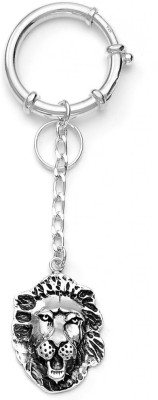 Taraash Sterling Lion Face Locking Key Chain