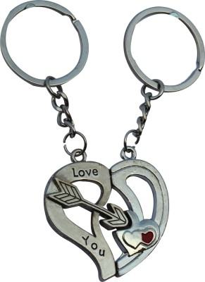 Anishop Valentine Couple Heart Love Gift Key Chain