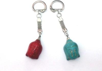 VASTUGHAR SET OF 2 BUDHA MAGNESITE KEY RINGS Key Chain