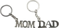 Oyedeal Set of Mom & Dad Key Chain(Silver)
