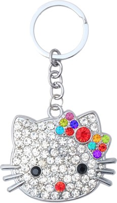 Super Drool Kitty in Crystals Locking Key Chain