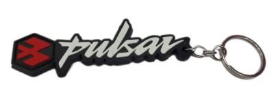 Aditya Traders Pulsar Black Silicon Rubber Ring Key Chain