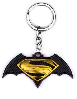 Techpro Batman vs Superman Metal Yellow colour Key Chain