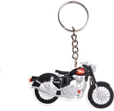 Ezone Royal Enfield Bike Shape 3D Rubber Key Chain