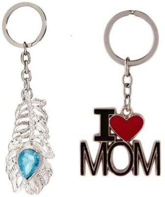CTW I Love Mom & Omg Metal Pack Of 2 Keychain Key Chain
