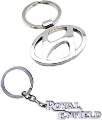Alexus Hyundai And Royal Enfield Metal Key Chain