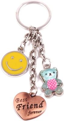 VeeVi Blue Teddy Smiley Best Friend Key Chain