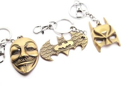 SRPC VENDETTA FACE MASK , BATMAN LOGO AND BATMAN MASK Locking Key Chain