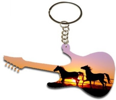 Onlineworld Guitar Shape Wood -05 Key Chain