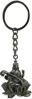 Aaradhi Divya Mantra Maa Saraswati Metallic Locking Key Chain