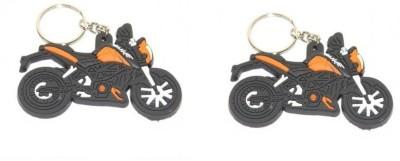 ABZR Combo Of 2 DUKE Rubber KeyChain Key Chain