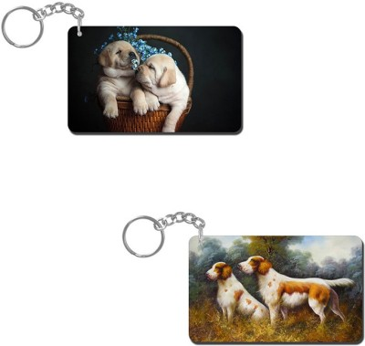 Lovely Collection Cute Puppies Key Chain