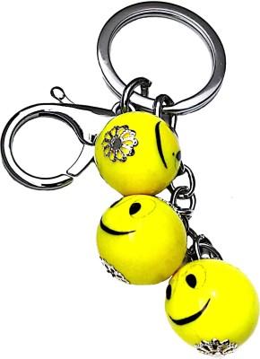 FCS 3 Yellow Smilly Key Chain