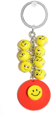 Tech Fashion Smiley Balls Metal Key Ring Key Chain