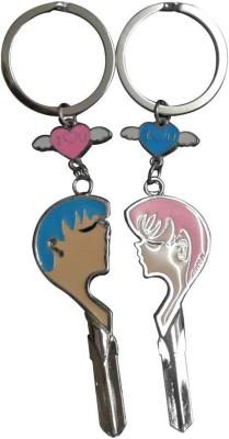 ShopeGift Boy Girl Face I Love You Key Chain