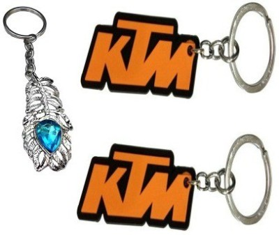 Abzr Pair Of 2 KTM And OMG Keychain Key Chain