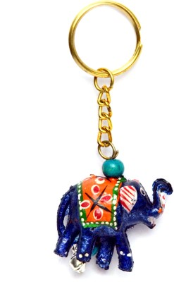 Lamha Crafts Blue Elephant Key Chain