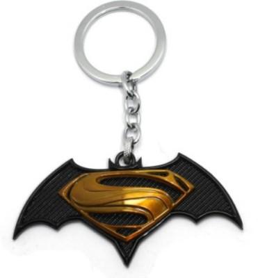Novaza Novaza Superman vs Batman Premium Metal Gold Key Chain