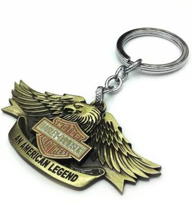 Techpro Harley Davidson Golden Colour An American Legend Eagle model Key Chain