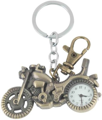 Kairos Designer Motor Bike Pocket Watch Clock Keychain Key Chain