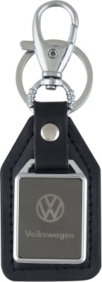 PARRK Volkswogan Mirror leather Car logo Locking Key Chain